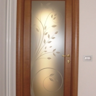 Sabbiati for Vetri decorati per porte interne classiche